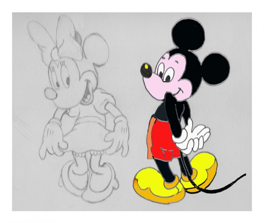 Minnie Mouse, Mickey Mouse by nev777